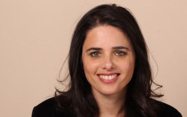 La députée Ayelet Shaked du parti HaBayit HaYehudi, le 3 février 2013 (Crédit photo: Flash90)