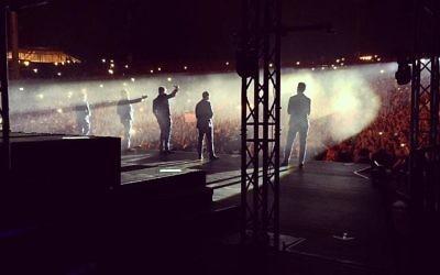 Le concert des Backstreet Boys à Ra'anana,le 19 mai 2015 (Backstreet Boys/Twitter)