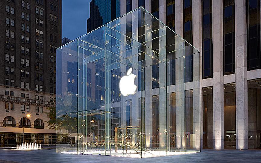 L'Apple Store sur la Cinquième Avenue à Manhattan (Credit : Apple)