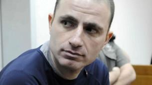 Le chef du crime israélien, Assi Abutbul (Crédit : Yossi Ziliger, Flash90)
