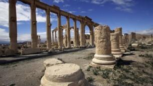 Vue partielle de l'ancienne ville-oasis de Palmyre en Syrie, le 14 Mars 2014 (AFP / Joseph Eid, File)
