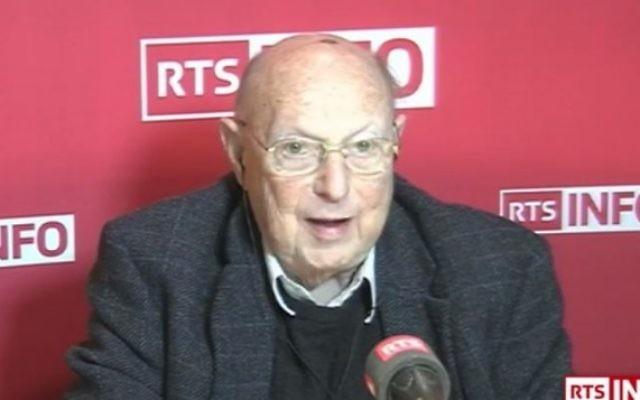 Rolf Bloch, ancien dirigeant des Juifs suisses et propriétaire d'une usine de chocolat (Capture d'écran YouTube / RTS - Radio Télévision Suisse)