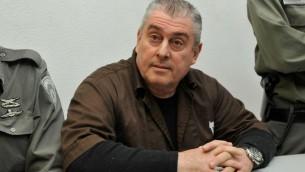 Le parrain de la pègre Zeev Rosenstein au tribunal de Ramleh, au Sud de Tel-Aviv, le 12 janvier 2010 (Crédit photo: Yossi Zeliger / Flash90)