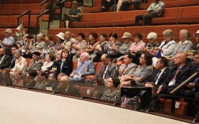 Des anciens combattants de la Seconde Guerre mondiale lors d'une session spéciale à la Knesset, pour le 70e anniversaire de la victoire contre l'Allemagne nazie. (Crédit photo: Knesset)