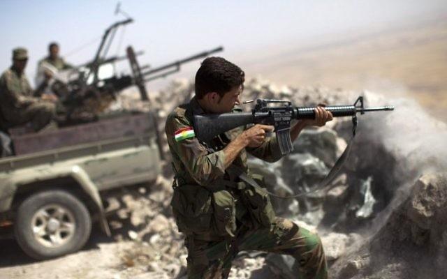 Illustration d'un combattant kurde - 9 septembre 2014 (Crédit : AFP/JM Lopez)