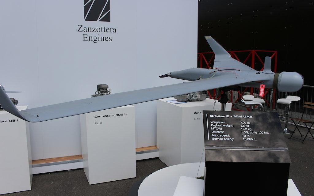 Le drone Orbiter 2 de Aeronautics Ltd (Crédit : Times of Israël)