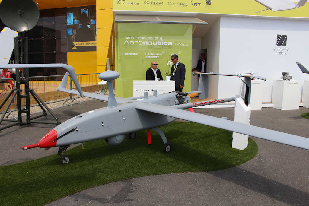 Le drone Aerostar de Aeronautics Ltd (Times of Israël Staff)