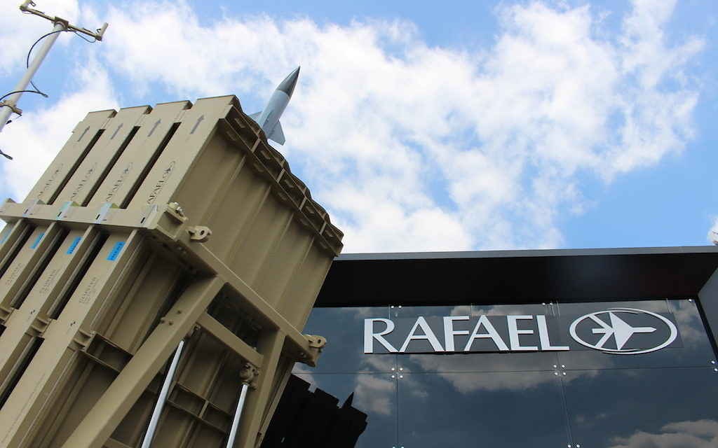 L'Iron Dome de Rafael Advanced Defense Systems Ltd (Crédit : Times of Israel Staff)