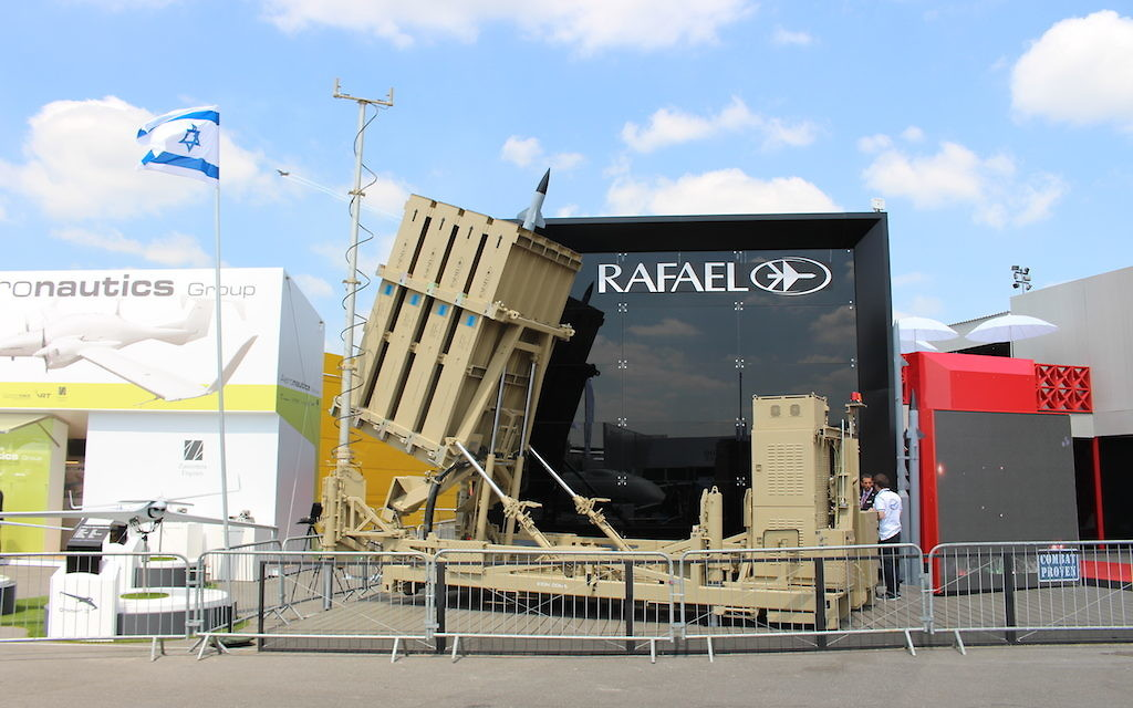 L'Iron Dome de Rafael Advanced Defense Systems Ltd (Crédit  : Times of Israël Staff)