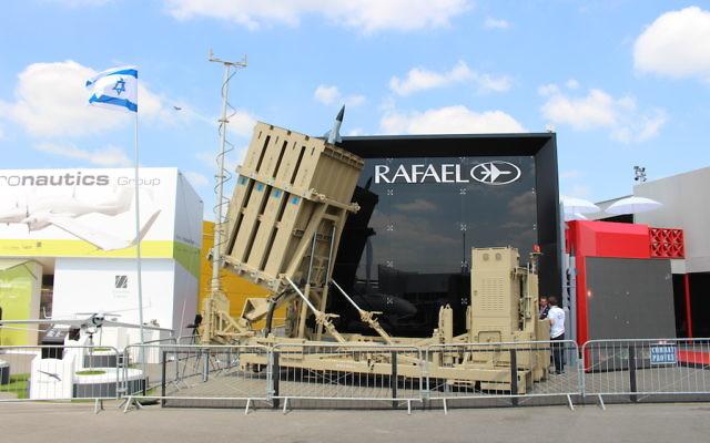 L'Iron Dome de Rafael Advanced Defense Systems Ltd (Crédit  : Times of Israël Staff)