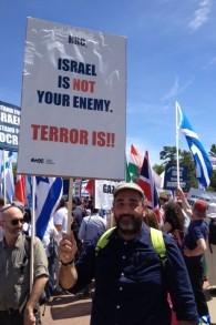 Abramo Eman de Milan reconnait qu'il doute que les rassemblements fassent évoluer les perceptions européennes sur Israël . 29 juin 2015 (Photo: Elhanan Miller / Times of Israel)