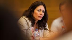 Miri Regev, ministre Likud de la Culture. (Crédit : Uri Lenz/Flash90)