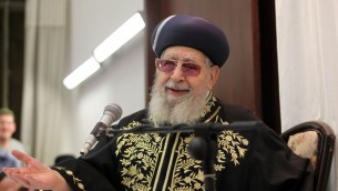 Rabbin Ovadia Yosef à Jérusalem eneptembre 2012 (Crédit : Flash90)