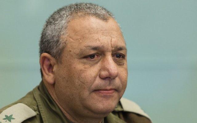 Le chef d'état-major de Tsahal, Gadi Eisenkot, alors qu'il n'était encore que général (Crédit : Flash90)