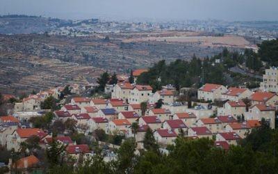L'implantation d'Efrat ,en Cisjordanie, le 17 décembre 2014. (Crédit :Miriam Alster/Flash90)