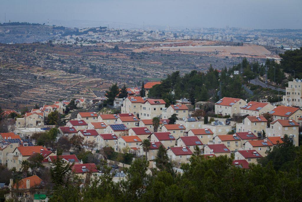 L'implantation d'Efrat en Cisjordanie le 17 décembre 17, 2014 (Crédit :Miriam Alster / Flash90)