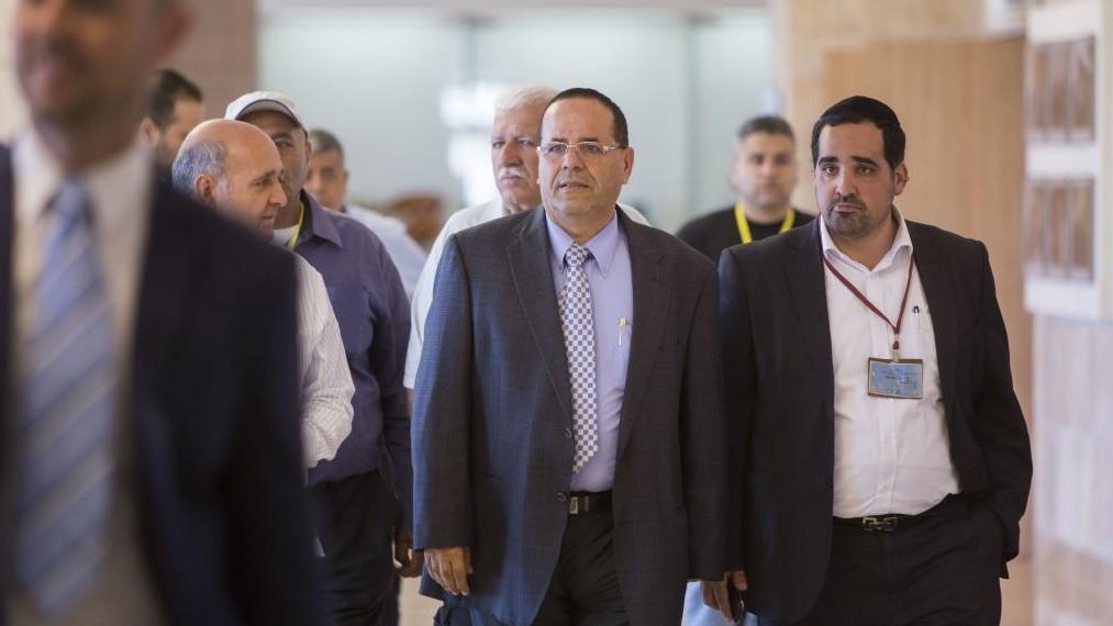 Le député Likud Ayoub Kara lors de son arrivée à une réunion du parti à la Knesset, le 18 mai 2015 (Crédit : Yonatan Sindel / Flash90)