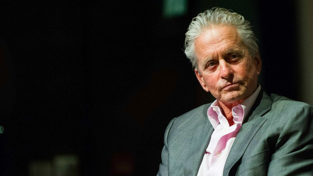 L'Acteur et producteur Michael Douglas, à un groupe de discussion sur sa carrière, jeudi, à la Cinémathèque (Crédit : Johana Garon / flash 90)