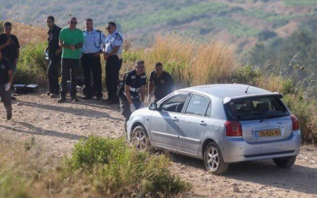 La scène après une attaque à l'implantation de Dolev, le 19 juin (Crédit : Flash90)