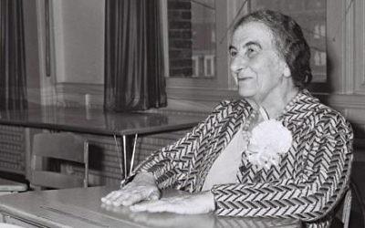 Golda Meir, Première ministre d'Israël. (Crédit : GPO)