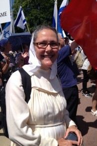 Sœur Lebona est venue pour s'identifier avec «le peuple élu de Dieu depuis la Bible» (Photo: Elhanan Miller / Times of Israel)