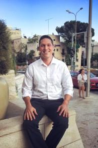 Rav Shmuley Yanklowitz à Jérusalem en juin 2015 (Crédit : Autorisation)