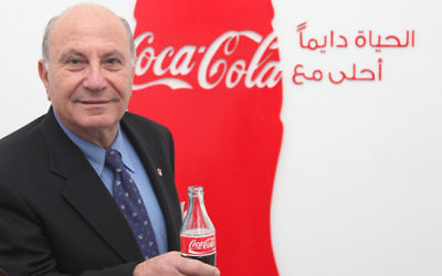 Zahi Khouri, responsable de Coca-Cola dans les territoires palestiniens. (Crédit : publicité de Coca-Cola)