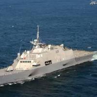 Une corvette Saar 5 de la marine israélienne. Illustration. (Crédit : capture d'écran YouTube)