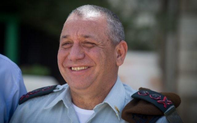 Le chef d'Etat-major de l'armée israélienne, Gadi Eizenkot (Crédit : Miriam Alster/Flash90)