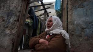 Une ruelle du camp de réfugiés d'al-Amari dans la ville cisjordanienne de Ramallah (Crédit : Issam Rimawi / Flash90)