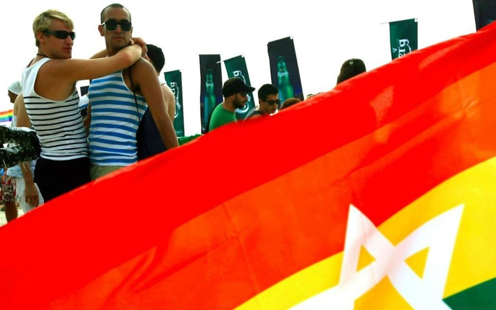 Lors d'un récent défilé de la Gay Pride à Tel-Aviv (Crédit : Omer Messinger / flash 90)