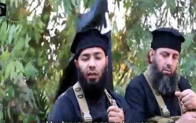 Dans un nouveau clip, l'État islamique a averti les groupes rebelles à la frontière syrienne avec Israël qu'il a l'intention de contrôler la région (Capture d'écran)