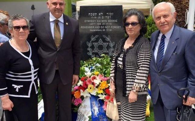 L'inauguration du Mémorial  de la Shoah dans la ville de Kavala, en Grèce, le 7 juin 2015 (Photo: page facebook du mémorial)