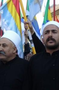 Des Druzes lors d'une manifestation pro-Syrie à Majdal Shams lundi 15 juin 2015 (Melanie Lidman / Times of Israel)