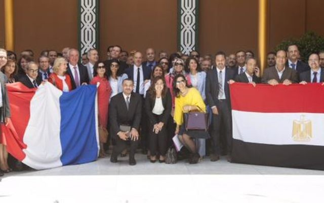 La delegation d'Orange en Egypte le 3 juin 2015 (compte Twitter de Stéphane Richard, le PDG d'Orange)