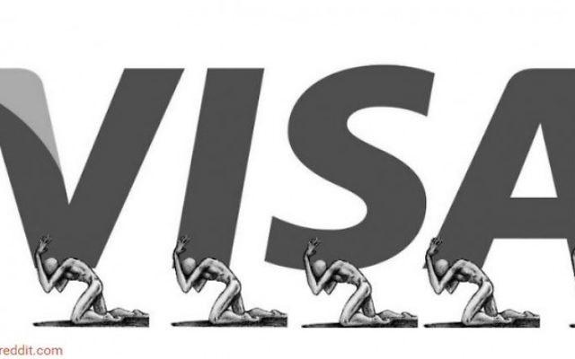 Un anti-logo Visa créé par un artiste pour attirer l'attention sur les violations des droits de l'Homme au Qatar, qui se préparer à accueillir la Coupe du Monde 2022. (Crédit : Capture d'écran: Boredpanda / Reddit)