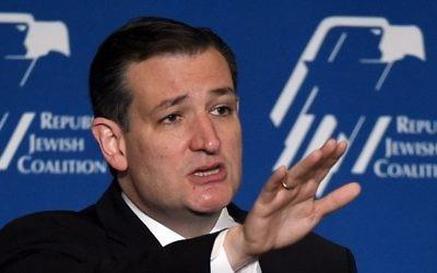 Le candidat aux présidentielles républicain, le sénateur du Texas Ted Cruz, le 25 avril 2015 à Las Vegas, Nevada. (Crédit : Ethan Miller / Getty Images / AFP)