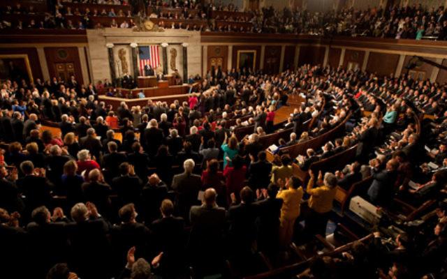 Le président Barack Obama lors d'une session conjointe du Congrès des États-Unis à la Chambre des représentants au Capitole, le 24 février 2009. (Crédit : Joyce N. Boghosian/ The White House Blog/Domaine public)
