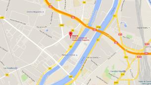 Centre commercial de Villeneuve la Garenne en banlieue ouest de Paris (crédit : Google)