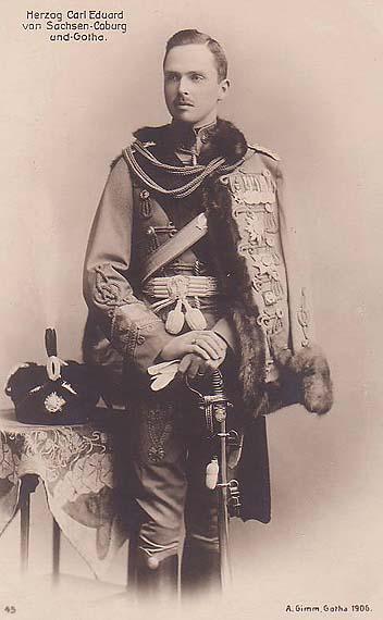 Charles Edward, duc de Saxe-Coburg et de Gotha, en 1905. (Crédit : domaine public via Wikipedia)