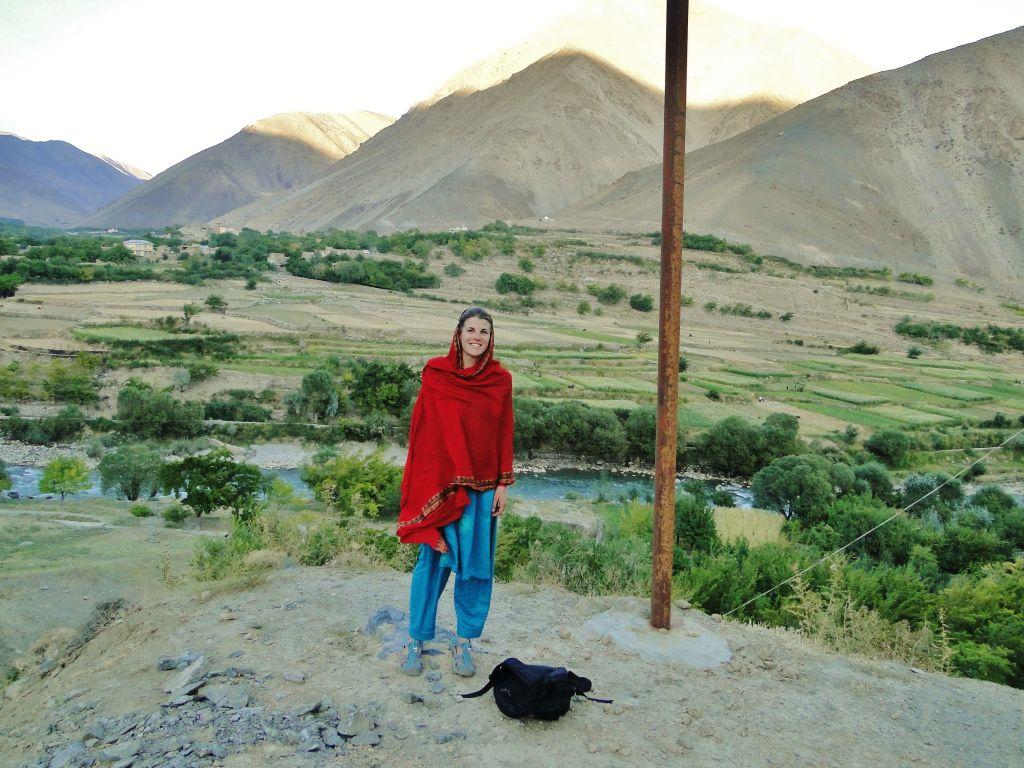 Tamara Baraaz photographiée en Afghanistan (Crédit : Autorisation de Tamara Baraaz)