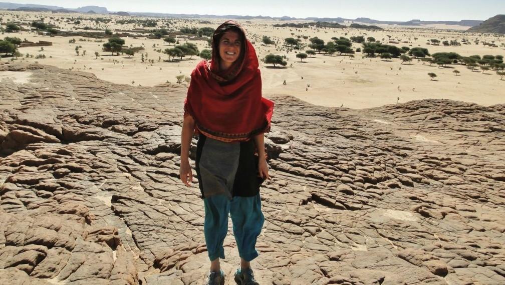 Tamara Baraaz au Tchad en 2014 (Crédit : Autorisation de Tamara Baraaz)
