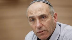 Le député Moti Yogev du parti  HaBayit HaYehudi (Crédit photo : Miriam Alster / Flash90)