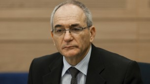 Yossi Kuperwasser lors d'une audience récente Knesset (Crédit : flash 90)
