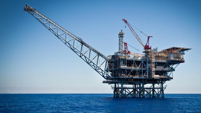 Le champ de gaz naturel de Tamar au large d'Ashkelon (Crédit : Moshe Shai / FLASH90)