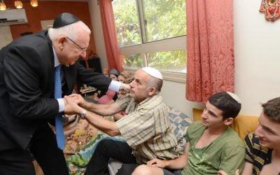 Rivlin  présente ses condoléances à la famille de Malachi Rosenfeld (Autorisation)