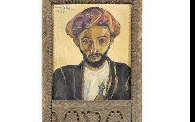"""L' """"Arabe en noir"""" par l'artiste juive Irma Stern, trouvé dans un appartement de Londres, utilisé comme un tableau, sera vendu aux enchères en septembre. (Bonhams)"""