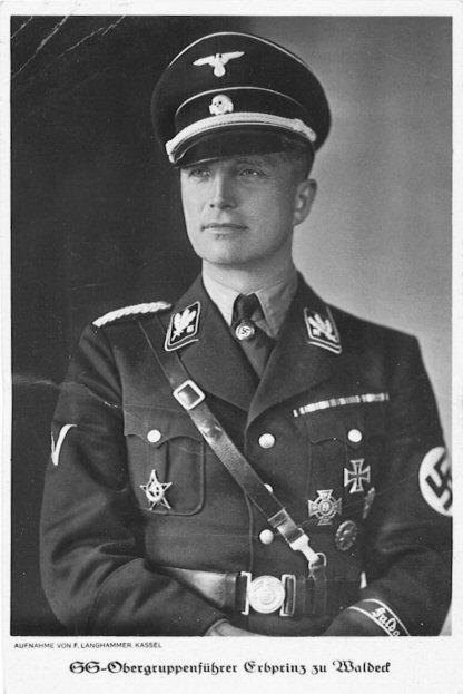 Le prince-Josias Waldek-Pyrmont, un membre de haut rang SS, qui a supervisé le camp de la mort de Buchenwald (Crédit : domaine public via Wikipedia)