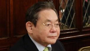 Le président du groupe Samsung Lee Kun-hee à Washington le 8 mai 2013 (Crédit : Chong Wa Dae / Wikipedia / Flickr / CC BY-SA 2.0)