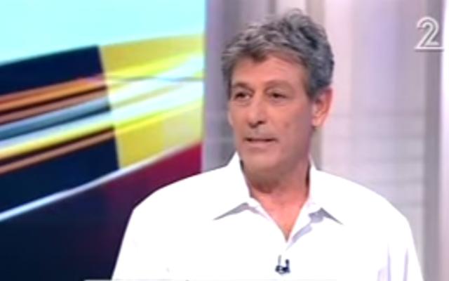 Capture d'écran de Ram Ben Barak lors d'une émission TV israélienne - 17 juillet 2015 (Crédit : Deuxième chaîne)